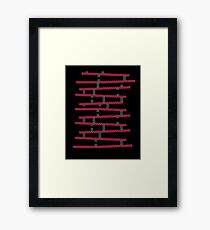 Donkey Kong stairs Framed Print