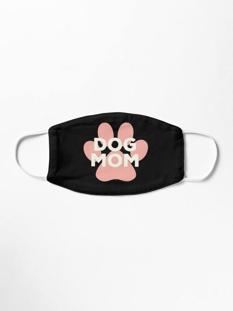 Alternate view of Dog Mom Pink Paw Print Ivory Lettering in Egyptian Revival Style Mask