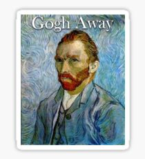 Gogh Away Sticker