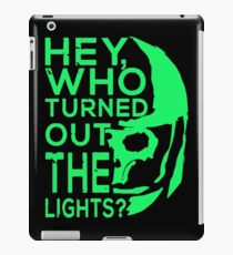 Doctor Who - Who turned out the lights iPad Case/Skin