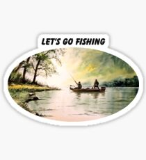 LET'S GO FISHING Sticker