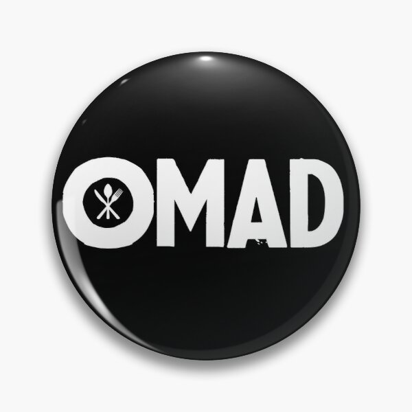 OMAD: One Meal a Day (Black) Pin