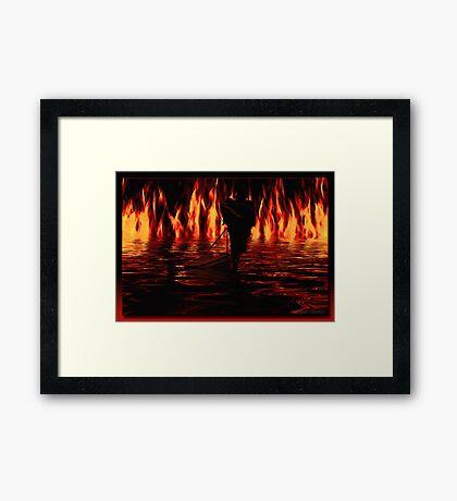 Walking The River Styx Framed Print