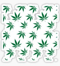 weed pattern large leaf Sticker