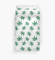 weed pattern large leaf Duvet Cover