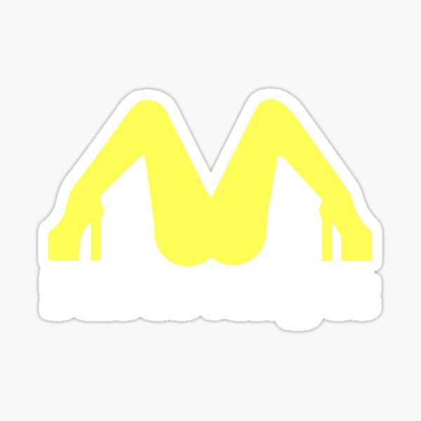 I love it this t-shirt, for men and women McDonald's lovers Sticker