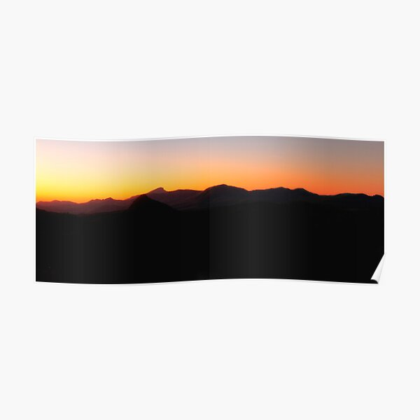 Warrumbungle skyline. Poster
