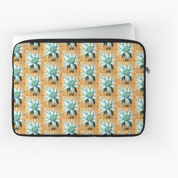 White Waratah Laptop Sleeve