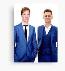 Benedict Cumberbatch and Tom Hiddelston Canvas Print