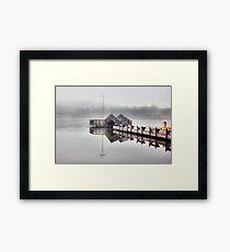 Foggy Morning Lake Tuggeranong Framed Print