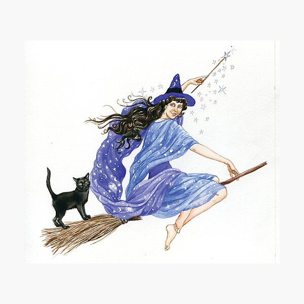 A Witch on her Night Out Photographic Print