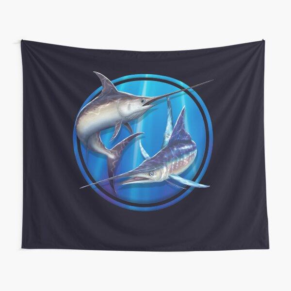Broadbill Swordfish & Striped Marlin Tapestry