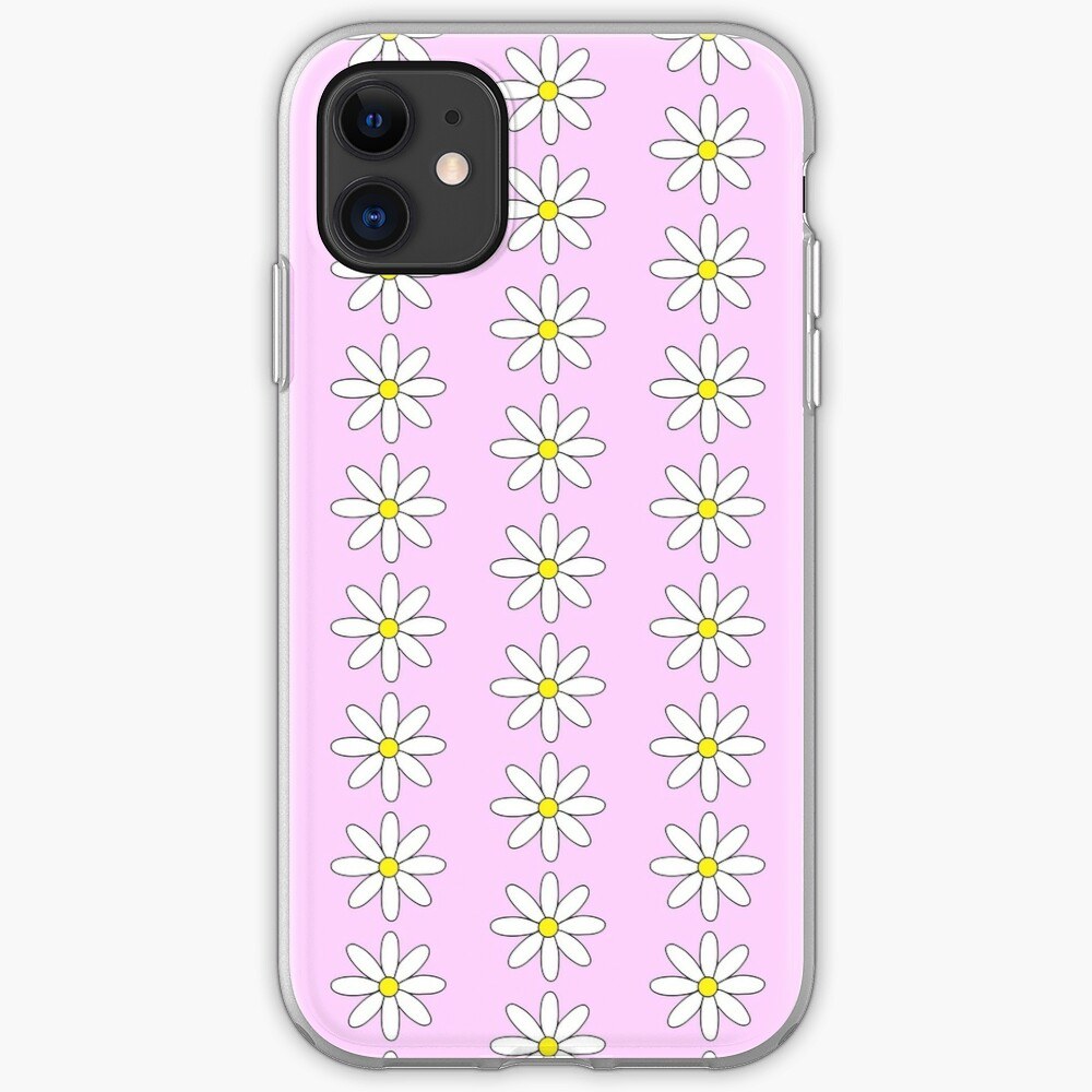 Daisy Flower Light Pink Backgrounds Iphone Case Cover By Emilyhardyy Redbubble