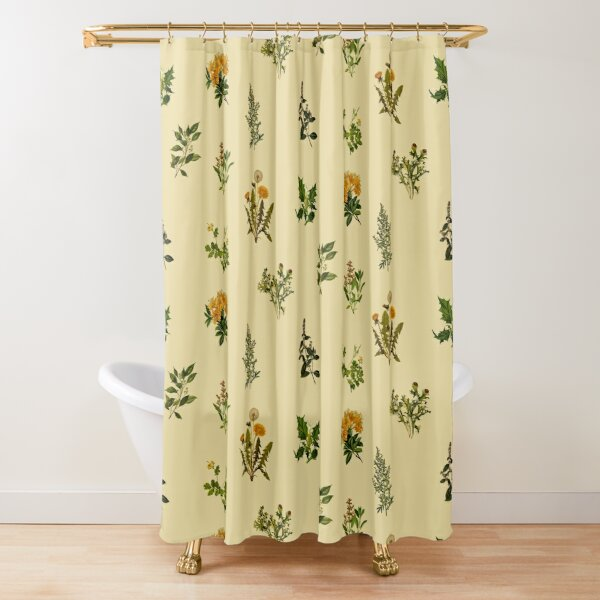 Vintage botanische Packung Duschvorhang