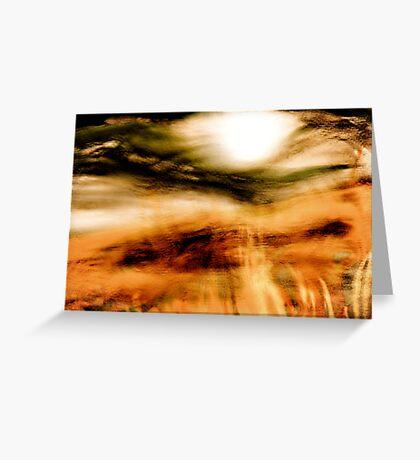 sun through the mist Greeting Card