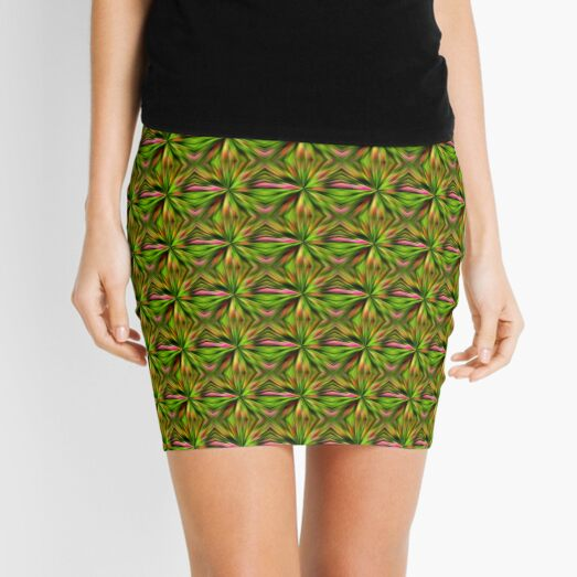 Vibrant Multi Colored Star Abstract Mini Skirt
