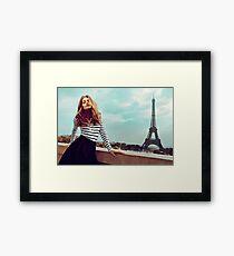 Brigitte Bardot in Paris Poster Framed Print