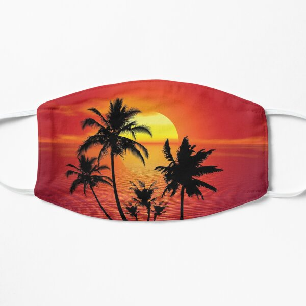 Tropical Summer Sunset Mask