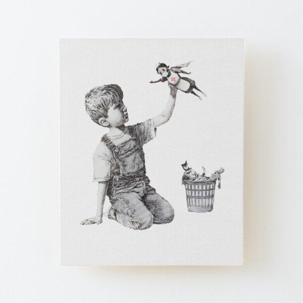 Changeur de jeu - Banksy Impression montée sur bois