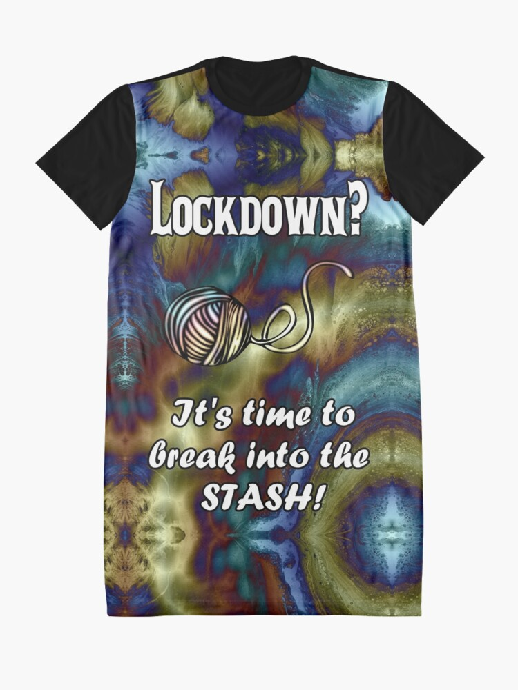 Alternate view of Break Into Your Yarn Stash Graphic T-Shirt Dress