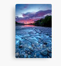 River run dawn Canvas Print