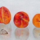 abricots and butterfly by Rineke de Jong