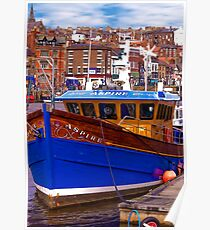 Whitby Fishing Trawler. Poster