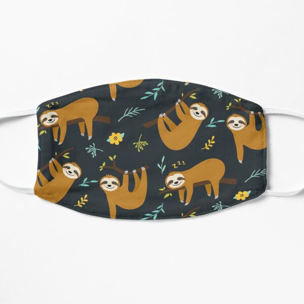 Cute sloth Seamless pattern | Funny Animal Gift Mask