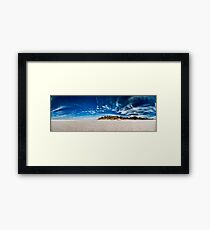 Lake Brown Panorama Framed Print