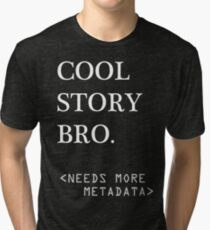Metadata matters - white Tri-blend T-Shirt