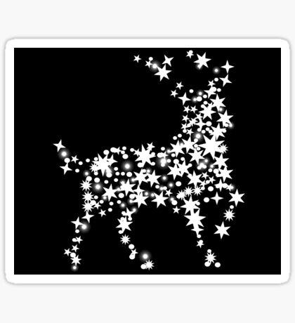 Star Reindeer Sticker