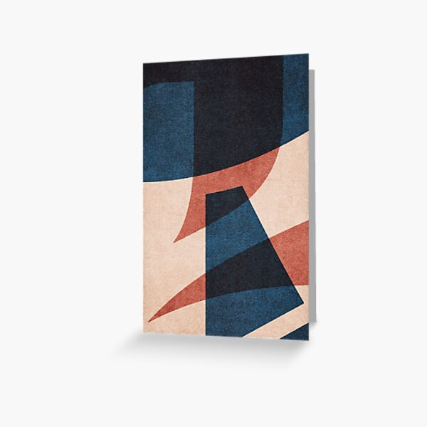 ABSTRACT ALPHABET / Gothic E Greeting Card