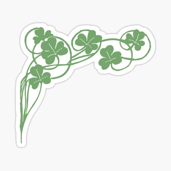 Green clover Sticker