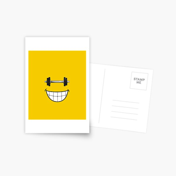 bodybuilding, Fitness, Gym, weightlifting smile Postcard