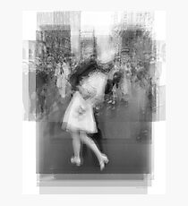 Sailor Kissing Woman Photographic Print