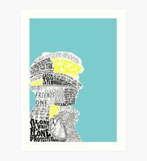 Sherlock Typography Art Art Print