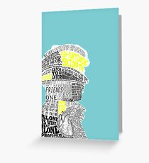 Sherlock Typography Art Greeting Card
