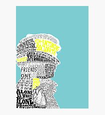 Sherlock Typography Art Photographic Print