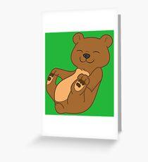 Brown Bear Cub Greeting Card