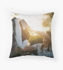 Red flare. Throw Pillow