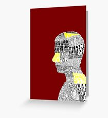 John Watson Typography Art Greeting Card