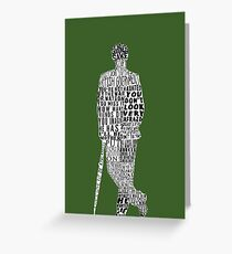 Mycroft Holmes Typography Art Greeting Card