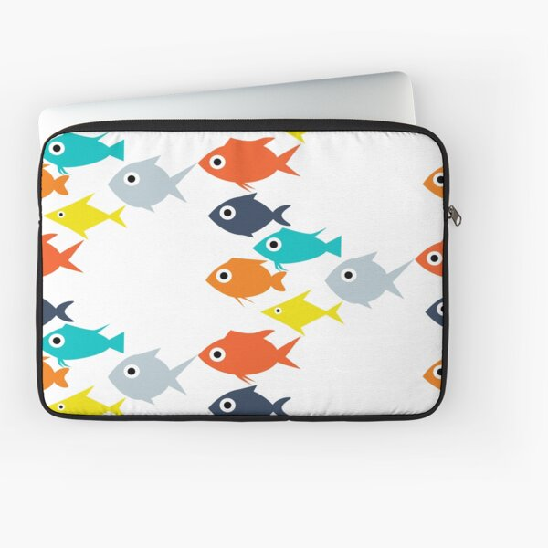 Colorful fish  pattern   design   Laptop Sleeve