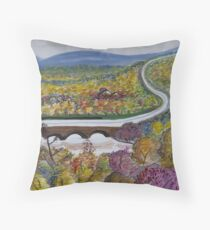 Free Bridge Fall Throw Pillow