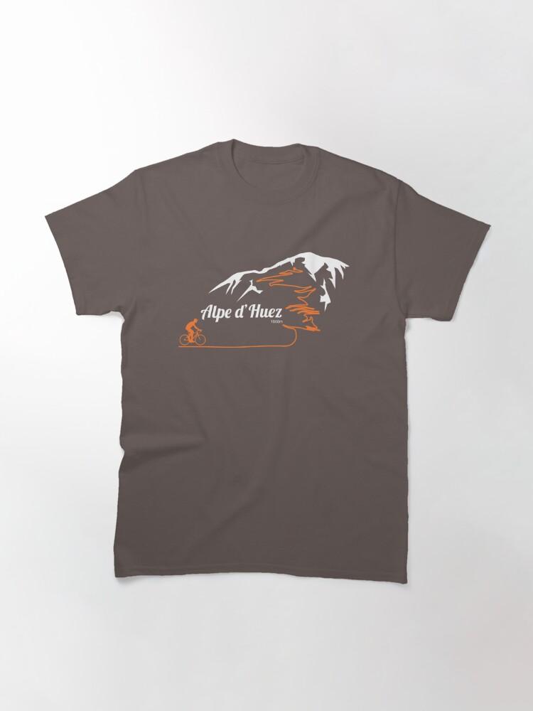 Alternate view of Alpe d'Huez Cycling Print Classic T-Shirt