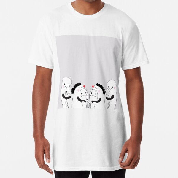 takecare and hug  abstract  cartoon   design  idea ,concept  picture  Long T-Shirt