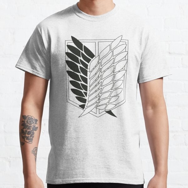 Attack on Titan: Wings Of Freedom Logo (Dark) Classic T-Shirt