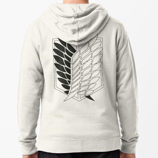 Attack on Titan: Wings Of Freedom Logo (Dark) Zipped Hoodie