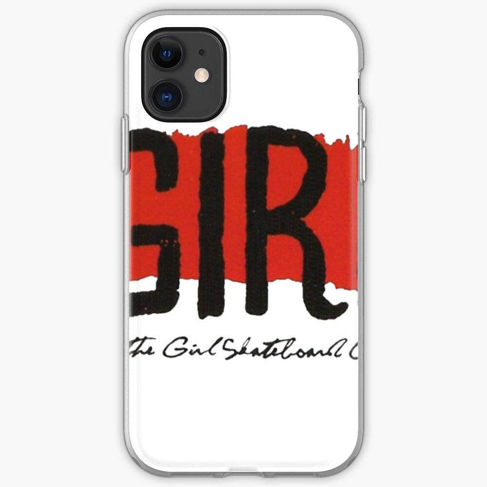 Girl Skate Red Logo T Shirt Design Iphone Case Cover By Surfskatets Redbubble
