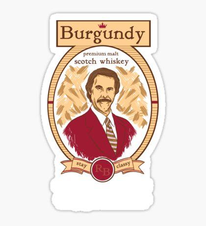 Burgundy Scotch Sticker